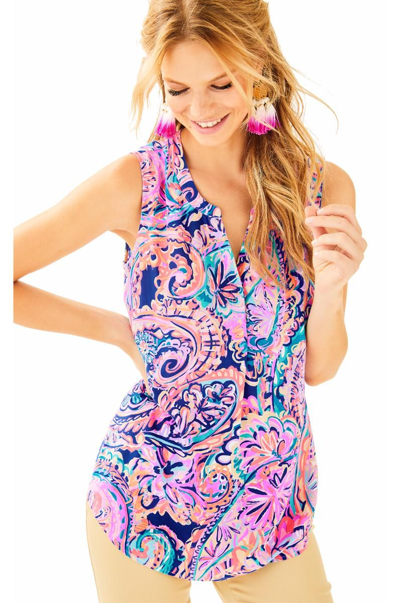 Lilly Pulitzer- Sleeveless Stacy Top