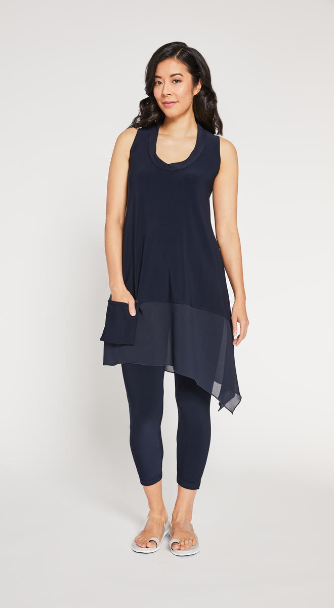 Slvless Whisper Pocket Tunic