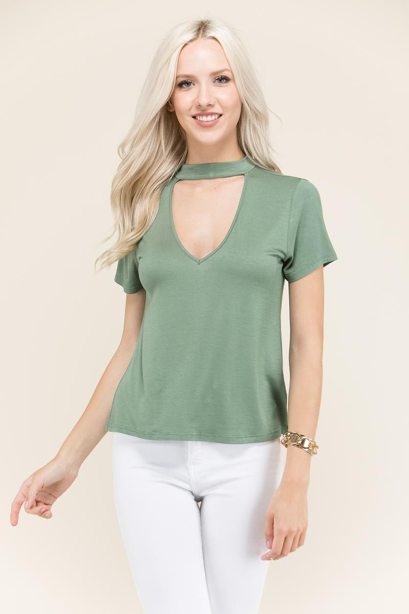 Choker Neck Relax Top - AY70583