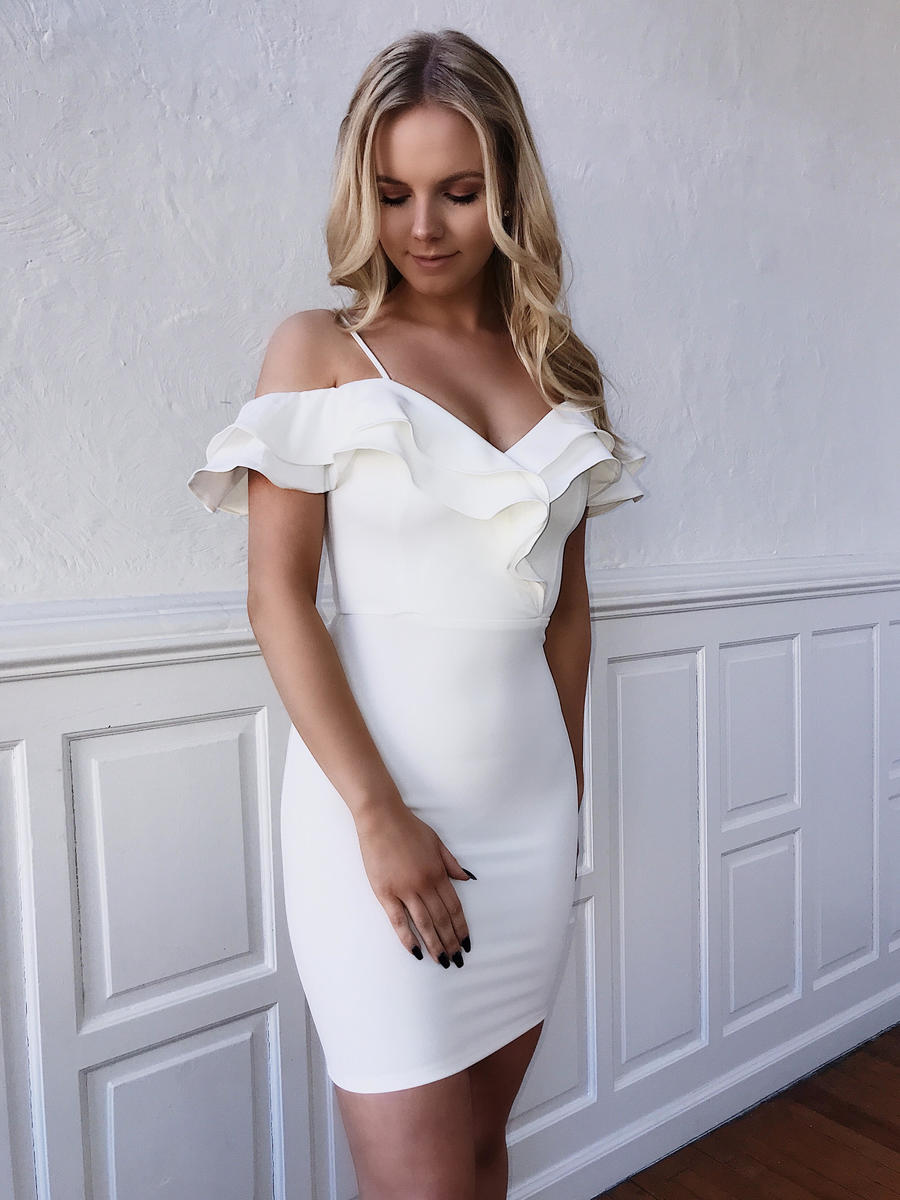 Double Ruffle Off the Shoulder Dress