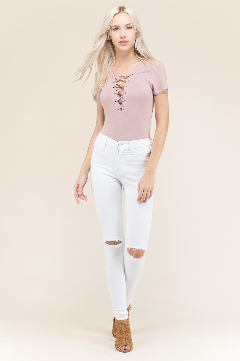 Lace Up Body Suit - JT70667